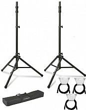 2x Ultimate Support TS-100B w/ Bag and Cables