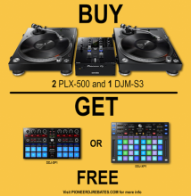 Pioneer DJM-S3 and PLX-500 Bundle | Rebate Offer