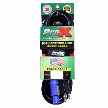 ProX XC-PWCE14-25  (25ft PowerCON Blue to Edison Cable)